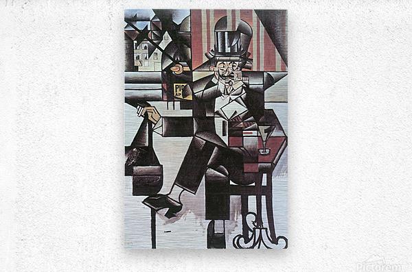 Man in Cafe -1- by Juan Gris  Metal print