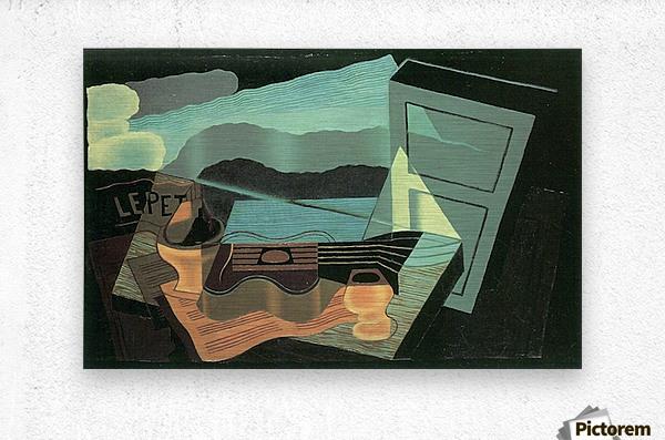 Overlooking the bay by Juan Gris  Metal print