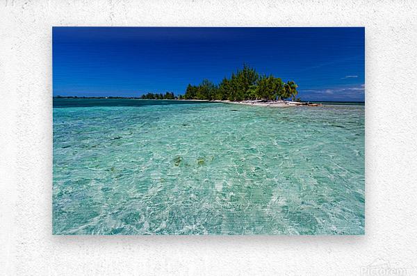 Tropical Cay  Metal print