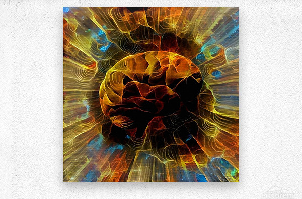 Power of Mind  Metal print