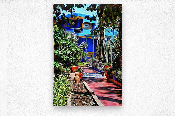 Approach To Cubist Villa Jardin Majorelle  Metal print