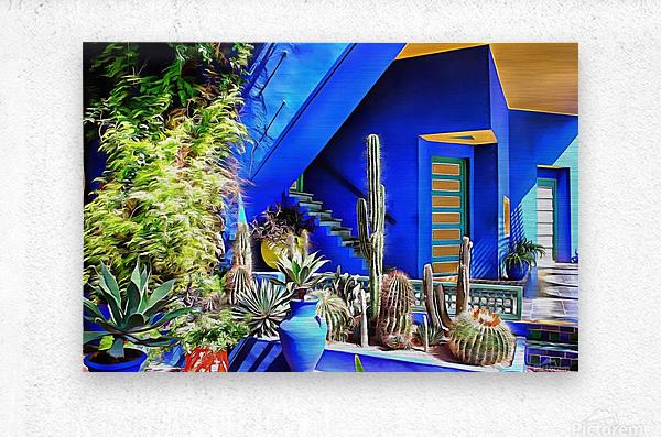 Cubist Villa Jardin Majorelle Marrakech  Metal print
