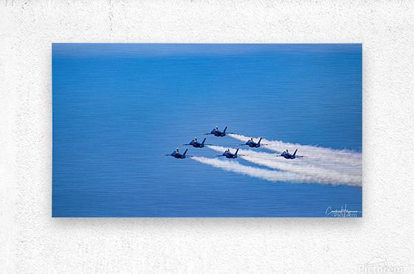 fighter jet formation  Metal print