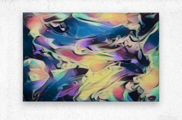 Smooth Brandy - multicolor abstract swirl wall art  Metal print