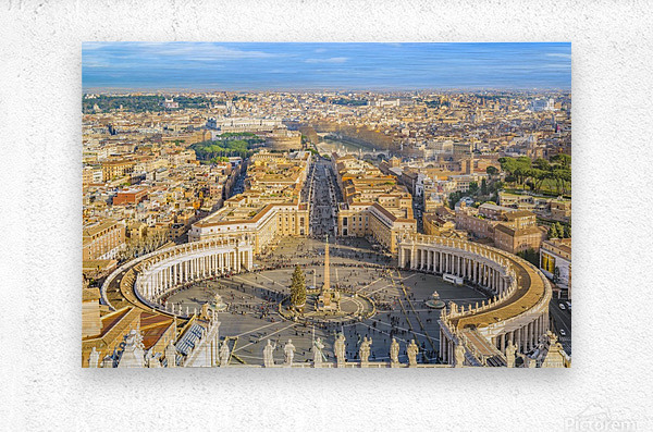 24996996 rome aerial view from saint peter basilica viewpoint  Metal print
