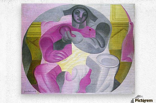 Sitting Harlequan by Juan Gris  Metal print