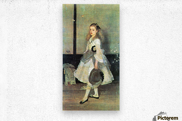 Portrait of Miss Alexander by James Abbot McNeill Whistler  Metal print