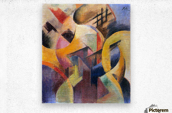 Small composition I by Franz Marc  Metal print