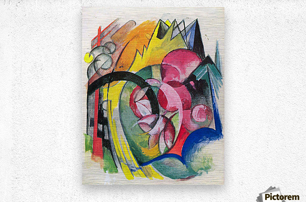 Small composition II by Franz Marc  Metal print