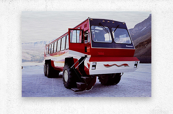 Snow Coach To The Columbian Ice Fields - Canada  Metal print