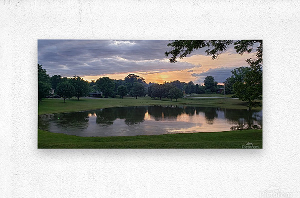 Sunset Pond  Metal print