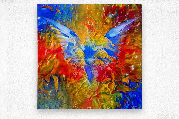 Flaming Eye of God  Metal print