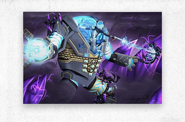 -Power Suit Fall-  Metal print