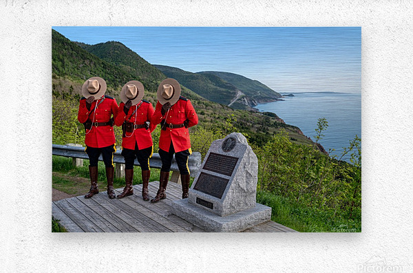 Respect and Honour - RCMP on French Mountain  Metal print