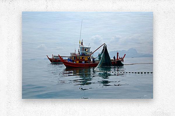 Bangkok - The Fisherman  Metal print