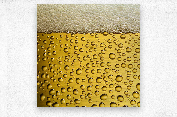 beer bubbles  Metal print