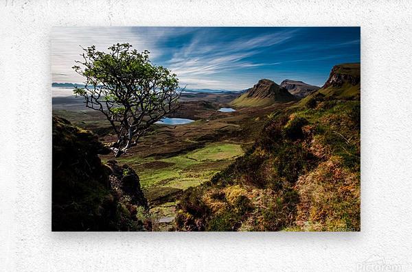 landscape quairaing scotland  Metal print