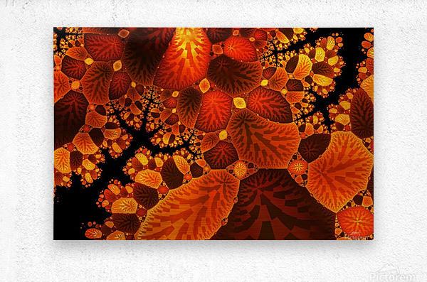 leaf autumn nature background  Metal print