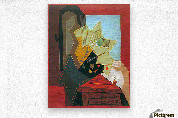 The window of the painter by Juan Gris  Metal print