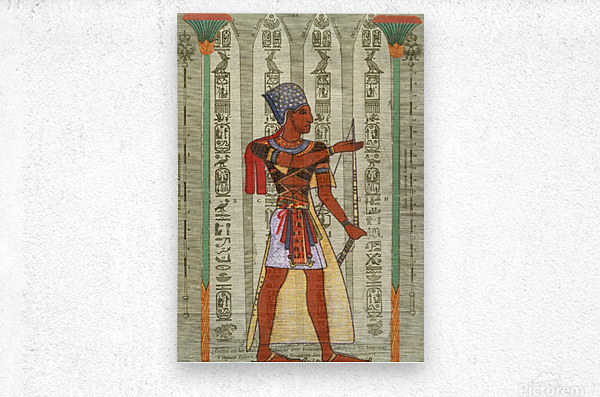 egyptian design man royal   Metal print