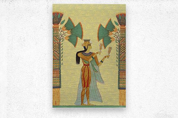 egyptian design man artifact royal  Metal print