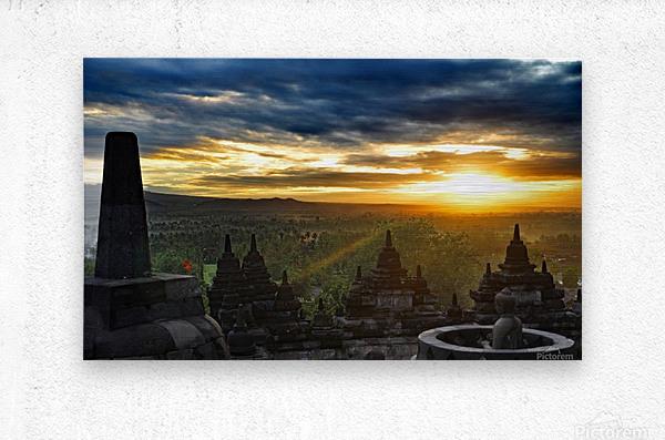 indonesia java landscape borobudur  Metal print