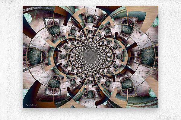 Graphic Ornamental Colorful  Metal print
