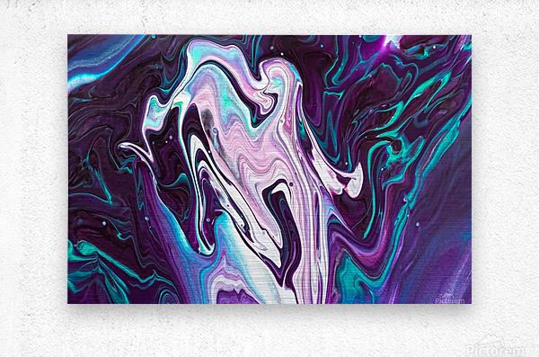 color acrylic paint art painting      Metal print