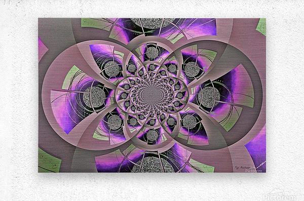 Mirror Infinity Lilac  Metal print