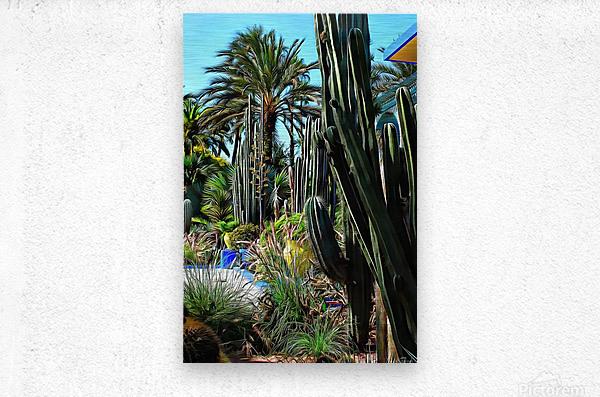 Giant Cacti Jardin Majorelle Marrakech  Metal print