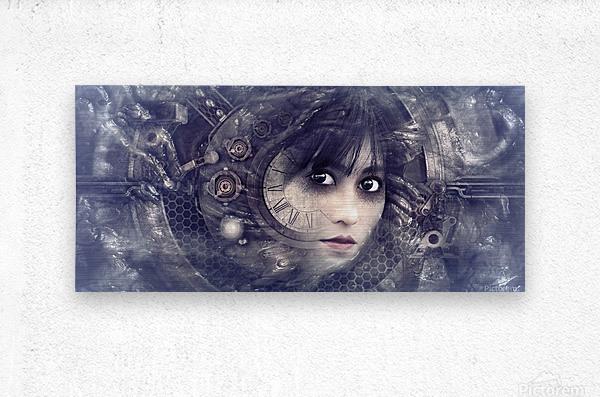fantasy portrait magic mystical  Metal print