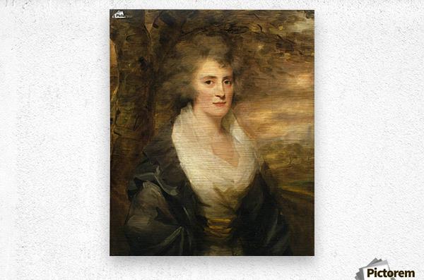 Portrait of Mrs E.Bethune  Metal print