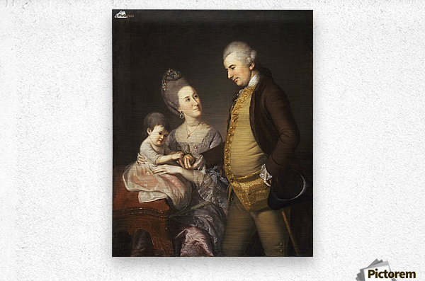 John and Elizabeth Loyd  Metal print