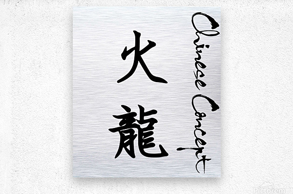 Chinese Concept 04A  Metal print