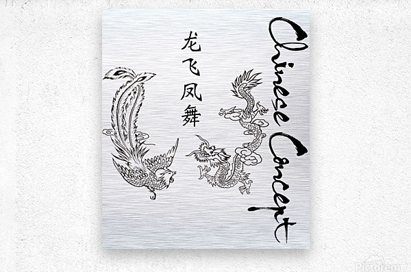 Chinese Concept 05A  Metal print