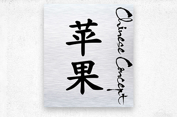 Chinese Concept 06A  Metal print