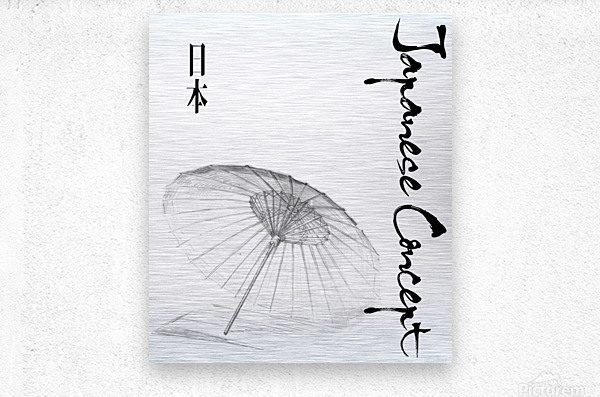 Japanese Concept 03A  Metal print