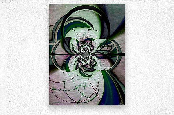 Broken Symmetry Teal  Metal print
