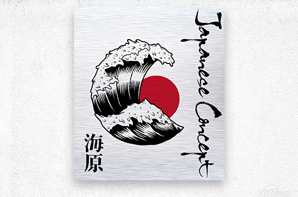 Japanese Concept 06A  Metal print