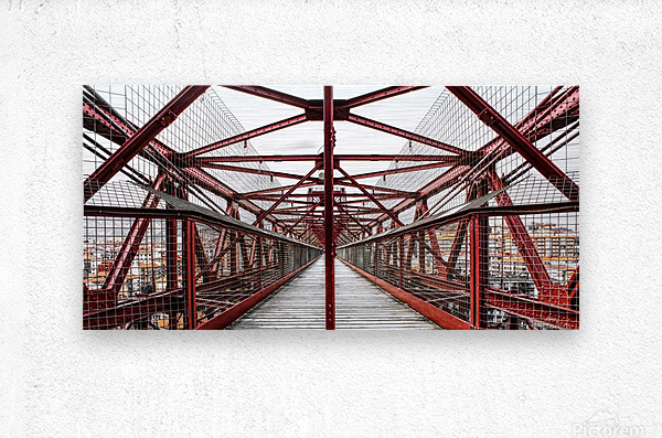 The Bridge - Geometric Pattern   Metal print