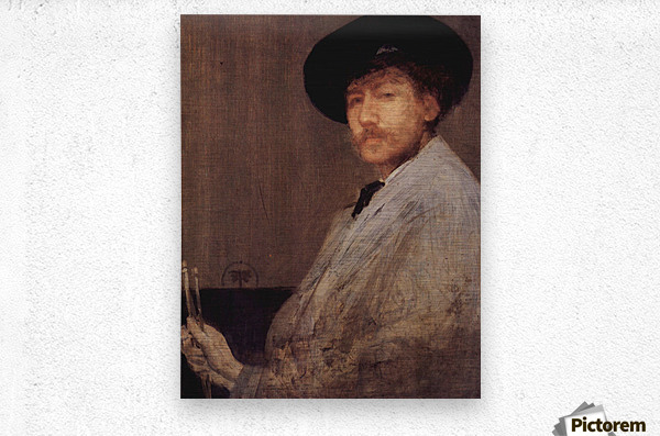 Self Portrait -1- by James Abbot McNeill Whistler  Metal print