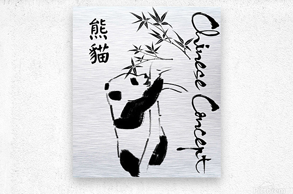 Chinese Concept 11A  Metal print