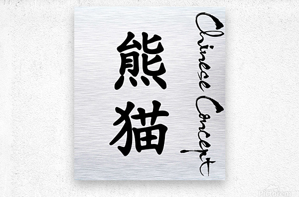 Chinese Concept 12A  Metal print