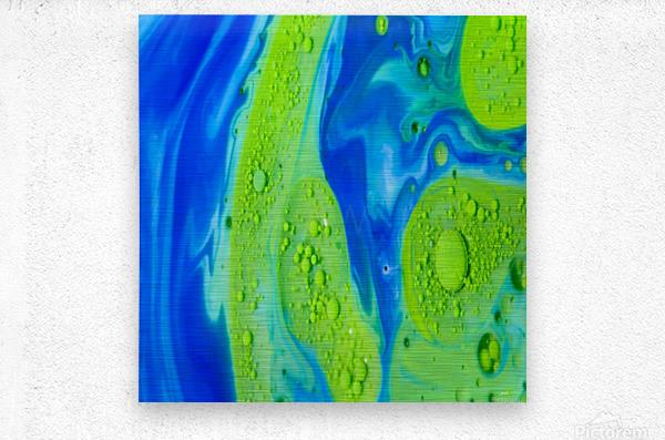 Art Swirls  Metal print