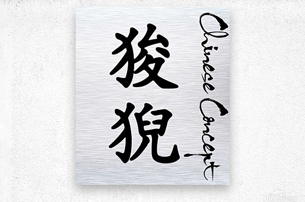 Chinese Concept 14A  Metal print