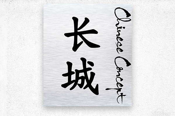 Chinese Concept 16A  Metal print