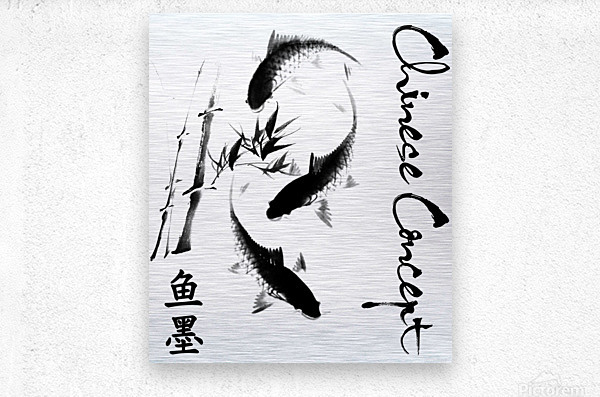 Chinese Concept 17A  Metal print
