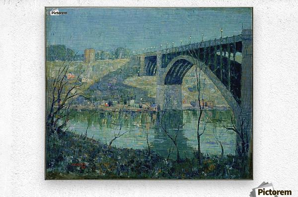 Spring Night Harlem River  Metal print