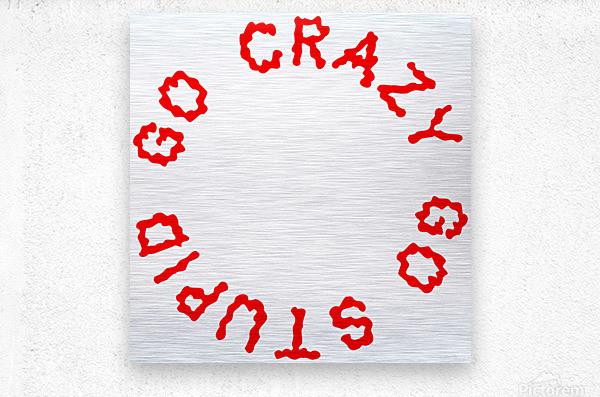 Go Crazy Go Stupid (63)  Metal print