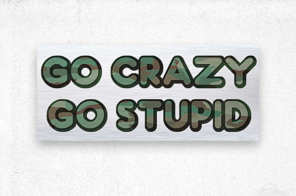 Go Crazy Go Stupid (76)  Metal print